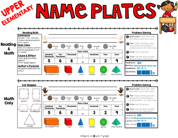 SIMPLE & CLEAN: ~Student Desk Nameplates {Upper Elementary}