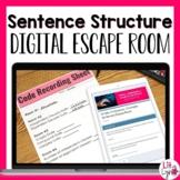SIMPLE, COMPOUND, & COMPLEX SENTENCES DIGITAL ESCAPE ROOM