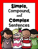 Simple, Compound, and Complex Sentences BUNDLE