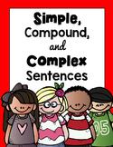 Simple, Compound, and Complex Sentences BUNDLE Worksheets