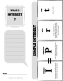 SIMPLE INTEREST Financial Literacy Foldable Note-Taking Guide & Problem Solving