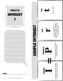 SIMPLE INTEREST Financial Literacy Foldable Note-Taking Gu