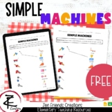 SIMPLE MACHINES Worksheet/Google Classroom/Distance Learning/Digital/Ontario