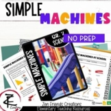 SIMPLE MACHINES Worksheets/Movement/Google Classroom/Distance Learning/Ontario