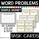 SIMPLE MONEY Word Problems Task Cards Math
