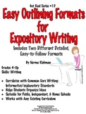 SIMPLE OUTLINE FORMATS & EXAMPLES FOR COMMON  CORE ESSAY WRITING