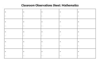 SIMPLE Observation assessment sheet
