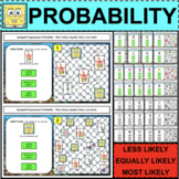 SIMPLE Probability Spongebob Activities Task Cards Less Eq