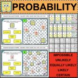 SIMPLE Probability Spongebob Activities Task Cards Possibl
