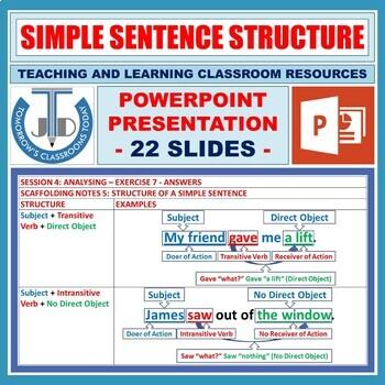 SIMPLE SENTENCES LESSON PRESENTATION