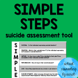 SIMPLE STEPS Suicide Assessment Poster