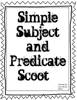 SIMPLE SUBJECT and PREDICATE SCOOT GAME