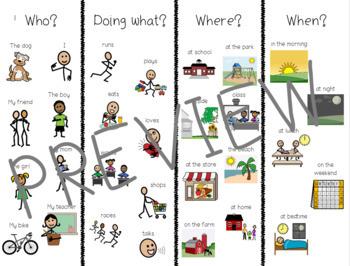 SIMPLE Sentence Building Chart