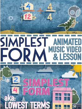 SIMPLEST FORM Worksheets | Lesson Plan | Video | Word Prob