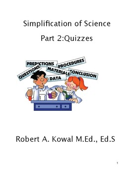 SIMPLIFICATION OF SCIENCE PART 2: QUIZZES