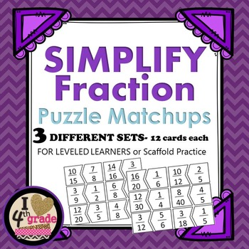 SIMPLIFY FRACTION PUZZLES