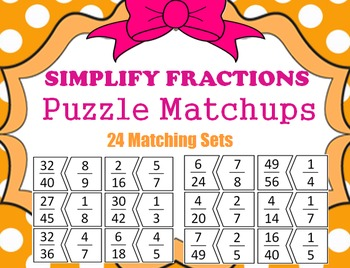 SIMPLIFY FRACTION PUZZLE