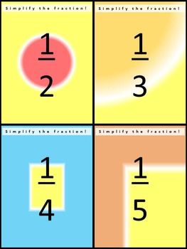 SIMPLIFY THE FRACTION: Multi-Question Task Cards for Independent Study