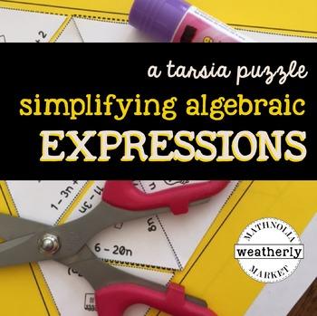 SIMPLIFYING EXPRESSIONS algebraic - a TARSIA jigsaw puzzle