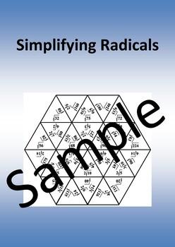 SIMPLIFYING RADICALS 2 - math puzzle