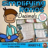 SIMPLIFYING RATIOS: DECIMAL NUMBERS