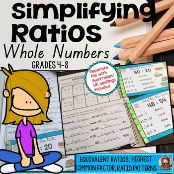 SIMPLIFYING RATIOS: WHOLE NUMBERS: EQUIVALENT RATIOS