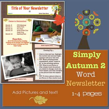 SIMPLY AUTUMN 2 *NEW FORMAT* - Newsletter Template WORD