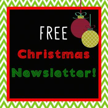 Simply Christmas New Format Newsletter Template Word