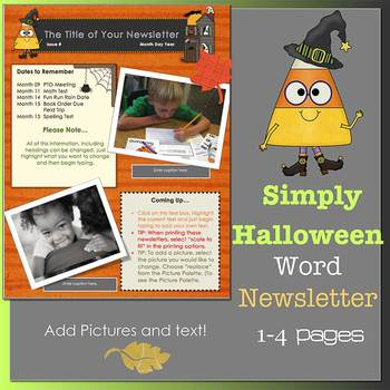 SIMPLY HALLOWEEN *NEW FORMAT* - Newsletter Template WORD