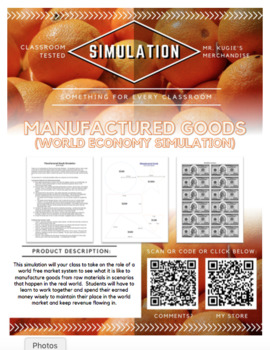 SIMULATION - Manufactured Goods Economy Game