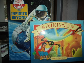 SINBAD POP UP STORYBOOK   THE FININITE BEYOND     (set of 2)