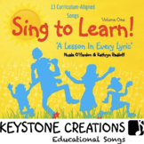 'SING TO LEARN!' ~ MP3: Children SING & LEARN 13 Curriculum-Aligned Songs