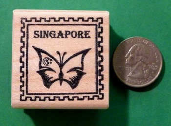 SINGAPORE Country/Passport Rubber Stamp