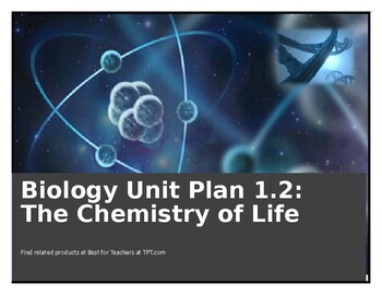 SIOP & Differentiated Biology Unit/Daily Lesson Plan 1.2: The Chemistry of Life