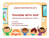 SIOP Language Objectives for First Grade Math and Lesson Plan