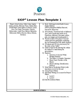 SIOP Lesson Plan: Earth Science: Astronomy & Astrology