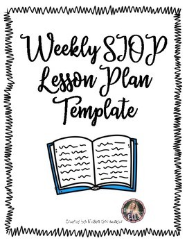 weekly siop lesson plan template for esl or all learners