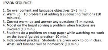 SIOP Lesson plan (easy algebra)
