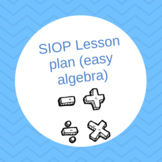 SIOP Lesson plan (easy algebra)