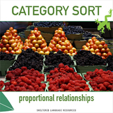 Category Sort Math Activity: Identify Proportional Relationships