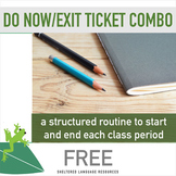 FREE! DO NOW!/Exit Ticket Combo