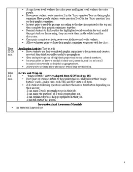 SIOP US GEOGRAPHY UNIT Lesson Plan 2