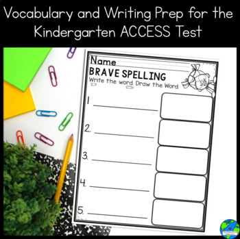 SIOP Vocabulary Strategy and Prep for ACCESS writing for Kindergarten UPDATED!