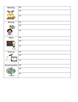 SIOP daily content and learning objective