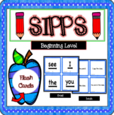 SIPPS Beginning Level Sight Word Flash Cards with Sentences