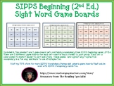 SIPPS Beginning Sight Word Game Boards (2nd Ed.)