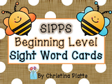 SIPPS Beginning Level Word Cards Bright Colors
