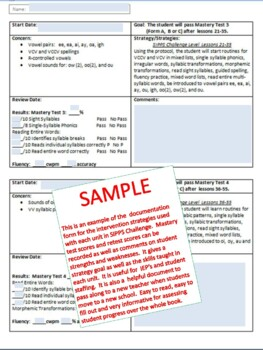 SIPPS Challenge Teacher Forms and More