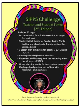 SIPPS Challenge Teacher Forms and More 2