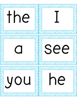 SIPPS Extension Sight Word Cards